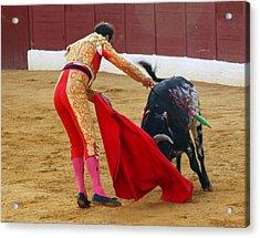 Matador Stabbing Bull Acrylic Print by Dave Dos Santos