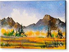 Acrylic Print featuring the painting Matanuska Autumn by Teresa Ascone
