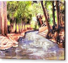 Mataranka Hot Springs Acrylic Print