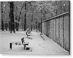 Acrylic Print featuring the photograph Match Called For Snow by Andy Lawless