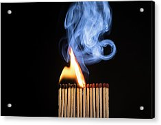 Matches Igniting Acrylic Print by Daniel Sambraus
