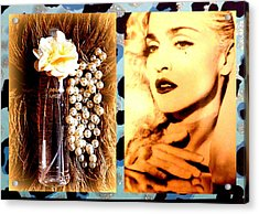Material Girl Acrylic Print by The Creative Minds Art and Photography