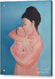 Maternidad / Motherhood Acrylic Print by Angela Melendez