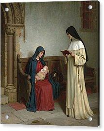Maternity Acrylic Print by Edmund Blair Leighton