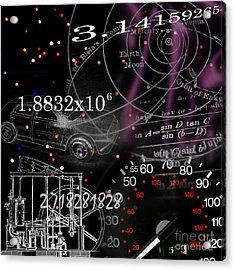 Math Science Invention Acrylic Print by R Kyllo