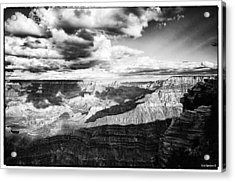 Clouds View From Mather Point  Acrylic Print by Lisa  Spencer