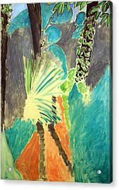 Matisse's Palm Leaf In Tangier Acrylic Print by Cora Wandel