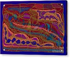 Matrix Acrylic Print by Meenal C