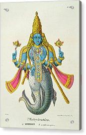 Matsyavatara Or Matsya, From Linde Acrylic Print