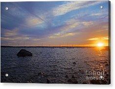Mattapoisett Sunset Acrylic Print by Amazing Jules
