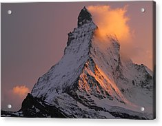 Matterhorn At Sunset Acrylic Print by Jetson Nguyen