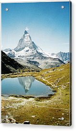 Matterhorn Cervin Reflection Acrylic Print by Mary Ellen Mueller Legault