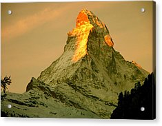 Matterhorn In Switzerland Acrylic Print