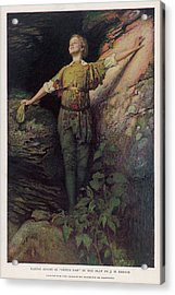Maude Adams  Actress, As Peter Pan Acrylic Print by Mary Evans Picture Library