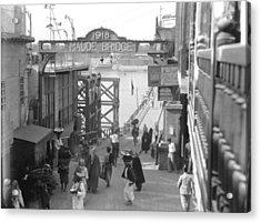 Maude Bridge In Baghdad Acrylic Print by Underwood Archives