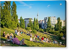 Mauerpark In Berlin, Germany Acrylic Print by Nikada