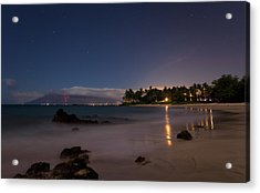 Maui By Night Acrylic Print by James Roemmling