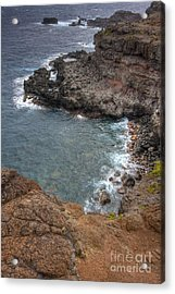 Acrylic Print featuring the photograph Maui Cliff by Bryan Keil