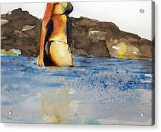 Acrylic Print featuring the painting Niue by Ed  Heaton
