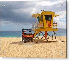 Maui Lifeguard Tower Acrylic Print