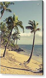 Acrylic Print featuring the photograph Maui Lu Beach Hawaii by Sharon Mau