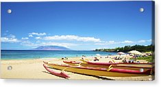 Maui Outriggers Acrylic Print by Kicka Witte