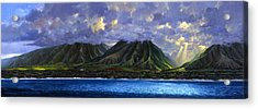 Maui Splendor Acrylic Print by Tom Wooldridge
