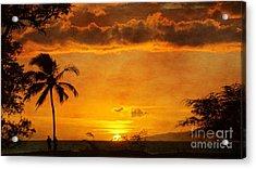 Maui Sunset Dream Acrylic Print by Peggy Hughes
