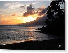 Maui Sunset - Napilli Beach Acrylic Print by Rau Imaging