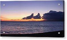 Maui Sunset Panorama Acrylic Print