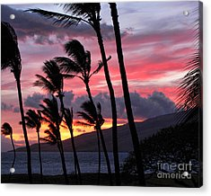 Acrylic Print featuring the photograph Maui Sunset by Peggy Hughes