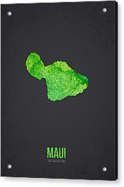 Maui The Valley Isle Acrylic Print by Aged Pixel