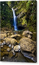 Maui Waterfall Acrylic Print by Adam Romanowicz