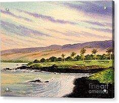 Mauna Kea Golf Course Hawaii Hole 3 Acrylic Print by Bill Holkham
