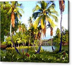 Mauna Lani Fish Ponds Acrylic Print