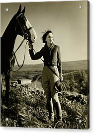 Maureen O'sullivan Standing On A Hill Acrylic Print by George Hurrell