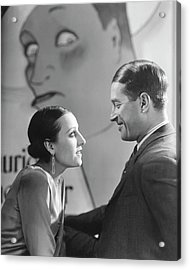 Maurice Chevalier And Yvonne Vallee Acrylic Print by George Hoyningen-Huene