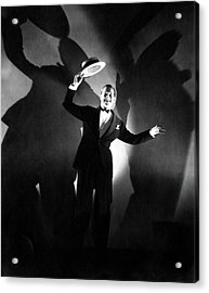 Maurice Chevalier Holding A Boater Hat Acrylic Print