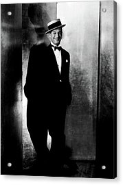 Maurice Chevalier Wearing A Boater Hat Acrylic Print