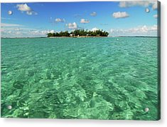 Mauritius, Blue Bay, Turquoise Rippled Acrylic Print