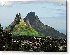 Mauritius, Floreal, Houses Acrylic Print