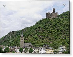Maus Castle In Germany Acrylic Print by Oscar Gutierrez