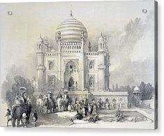 Mausoleum Of Jufhir Junge, Delhi Acrylic Print by English School