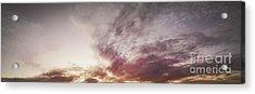 Mauve Skies Acrylic Print by Holly Martin