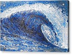 Mavericks Wave Acrylic Print by RJ Aguilar