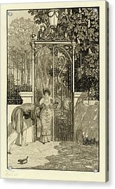 Max Klinger, At The Gate Am Thor Pl Acrylic Print by Quint Lox