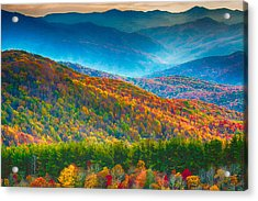 Max Patch Bald Fall Colors Acrylic Print