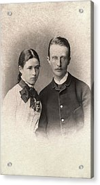 Max Planck And Wife Acrylic Print by American Philosophical Society