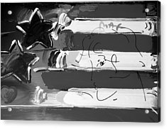 Max Stars And Stripes In Black And White Acrylic Print by Rob Hans