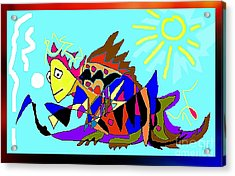 Max The Magic Dragon Acrylic Print by Hartmut Jager